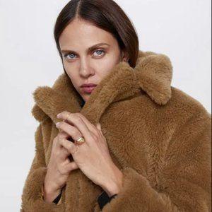 Zara Faux Fur Teddy Coat
